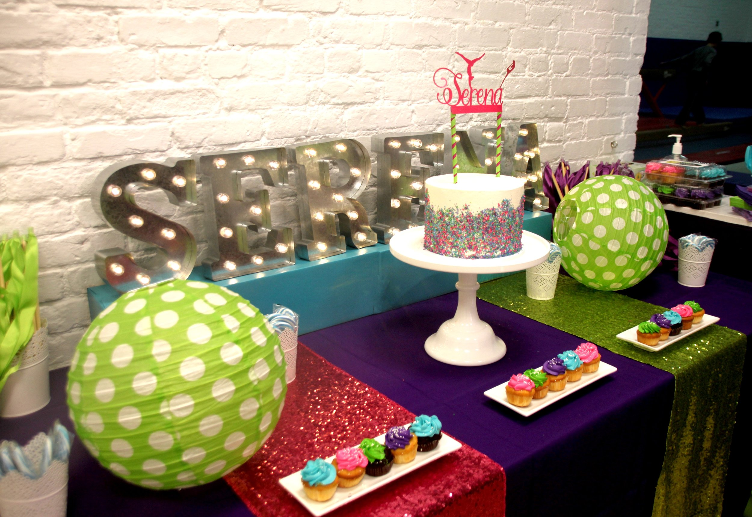 Feature Table with marquee letters