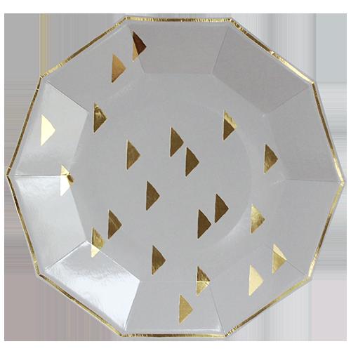 Gold foil large plates