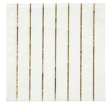 Large gold foil napkins