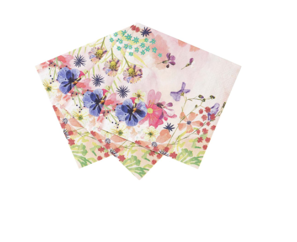 Floral Cocktail Napkins