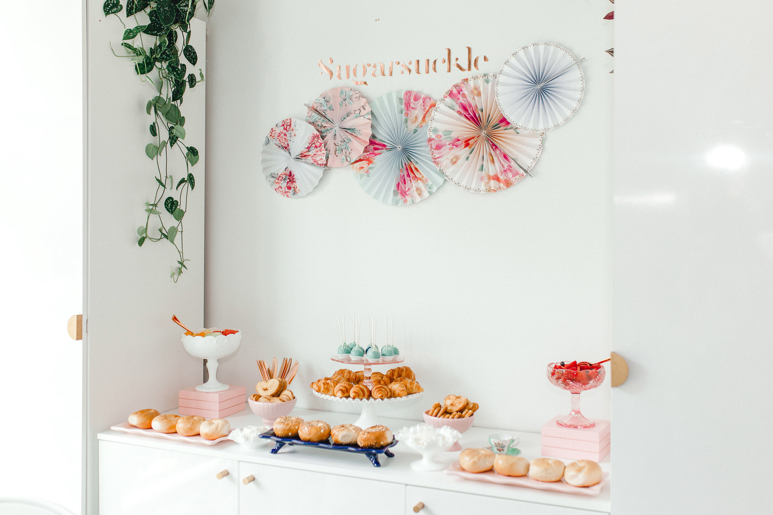 Bagels by JP Bagels Express  Styling by Popseri  Party rentals by Tie a Bow