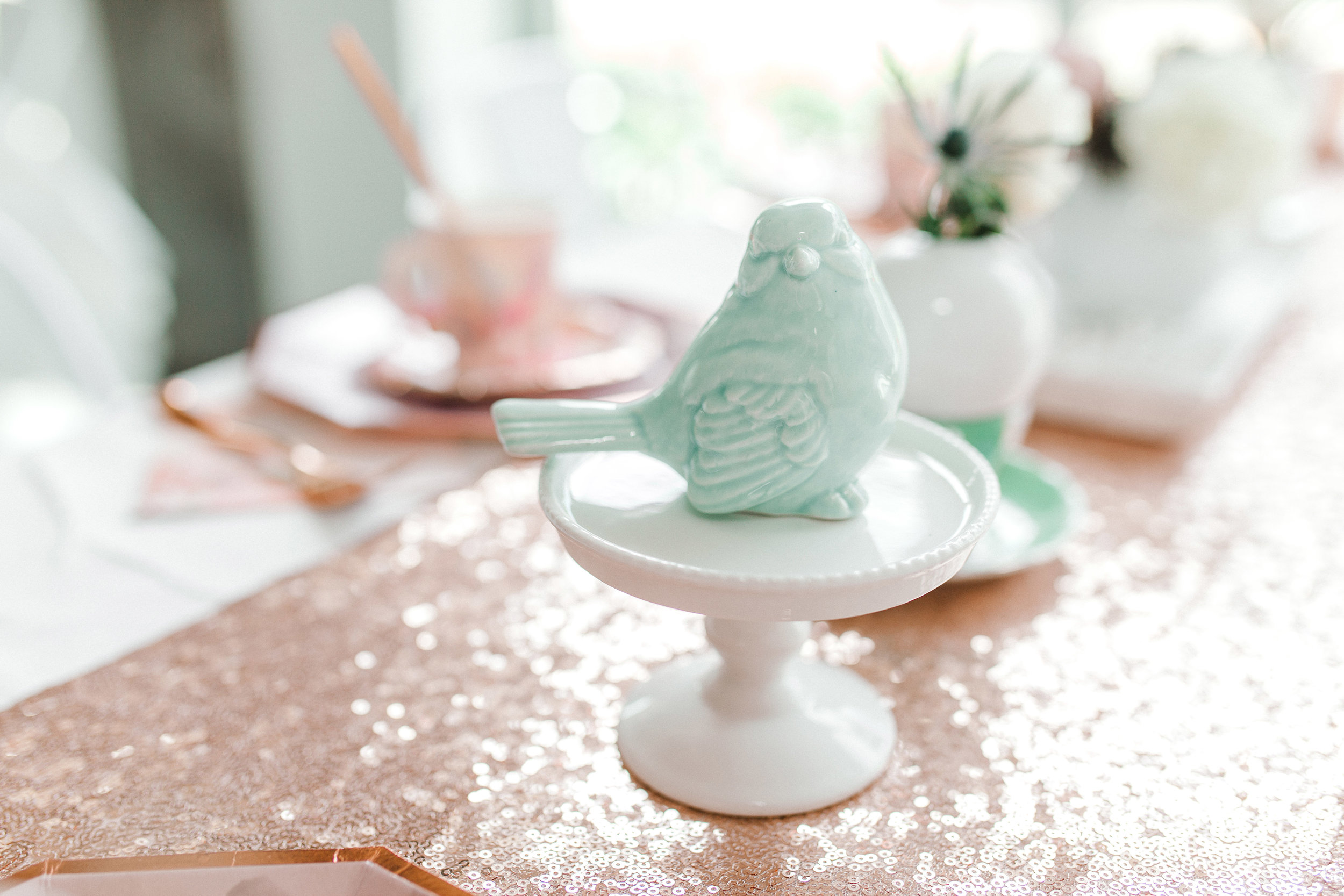 Sweet bird and cake stand by Tie a Bow