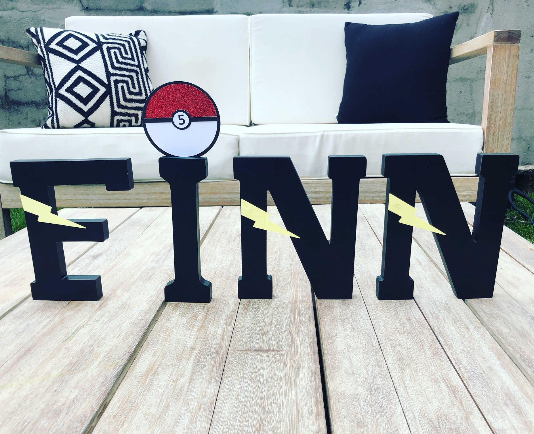 Custom Pokemon Letters! -  Styled By Kristy F. in Jersey City, NJ