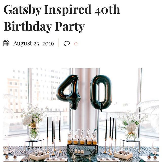 Gatsby feature! Thanks @karaspartyideas read all about this party that's close to my ♥️. . Venue ~ @antiquelofthoboken  Catering ~ @antique_bar_bakery  Photography ~ @sarinascheepersphotography Band ~ @jamescalleo  Sweets ~ @alittlecake_  Hair ~ @upandoutbeauty  Feathers ~ @thefeatherplace  Event planning & floral ~ @popseri_events  Linens ~ @cvlinens . . . . . #gatsbyparty #gatsby #40thbirthdayparty #hoboken #hobokenevents #eventplanner #eventlife #eventstylists #roaring40s #roaringtwenties #fortyandfabulous #eventgoals #popseri