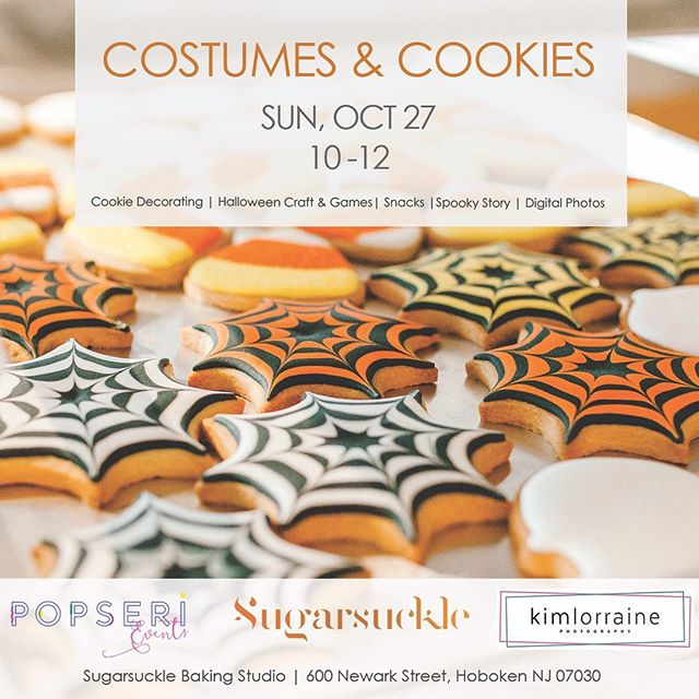 Halloween 👻 is right around the corner! Please join us for our annual Costumes and Cookies event @sugarsuckle on Oct 27. ⠀⠀⠀⠀⠀⠀⠀⠀⠀ Each child will decorate their own set of Halloween sugar cookies from spiderwebs to bubbling cauldrons. Afterwards, we'll have some fun with crafts and games, snacks, and a spooky story time. @kimlorrainephotography will be capturing images throughout the event and hi-res photos of the party will be provided to all attendees. ⠀⠀⠀⠀⠀⠀⠀⠀⠀ Recommended for ages 3+. Tickets can be purchased through Sugarsuckle's website. Click on the link in the profile! . . . . . #hoboken #hobokenevents #hobokenhalloween #hobokennj #kidsevent #hudsoncounty #halloweenparty #eventlife #eventplanner #workshop #childrensparty #jerseycityevents #eventgoals
