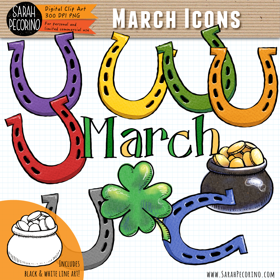 March Icons Clip Art {First Edition}