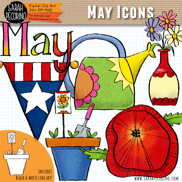 May Icons Clip Art {First Edition}