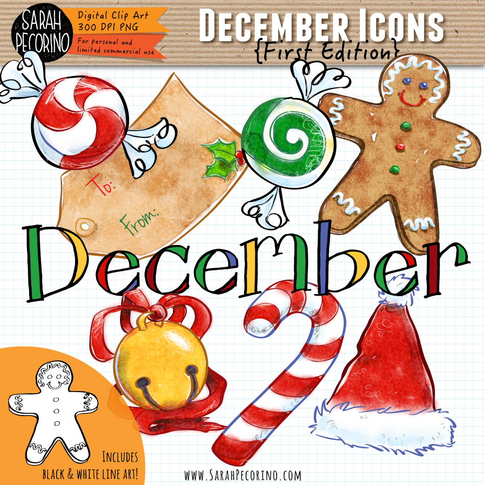 December Icons Clip Art {First Edition}