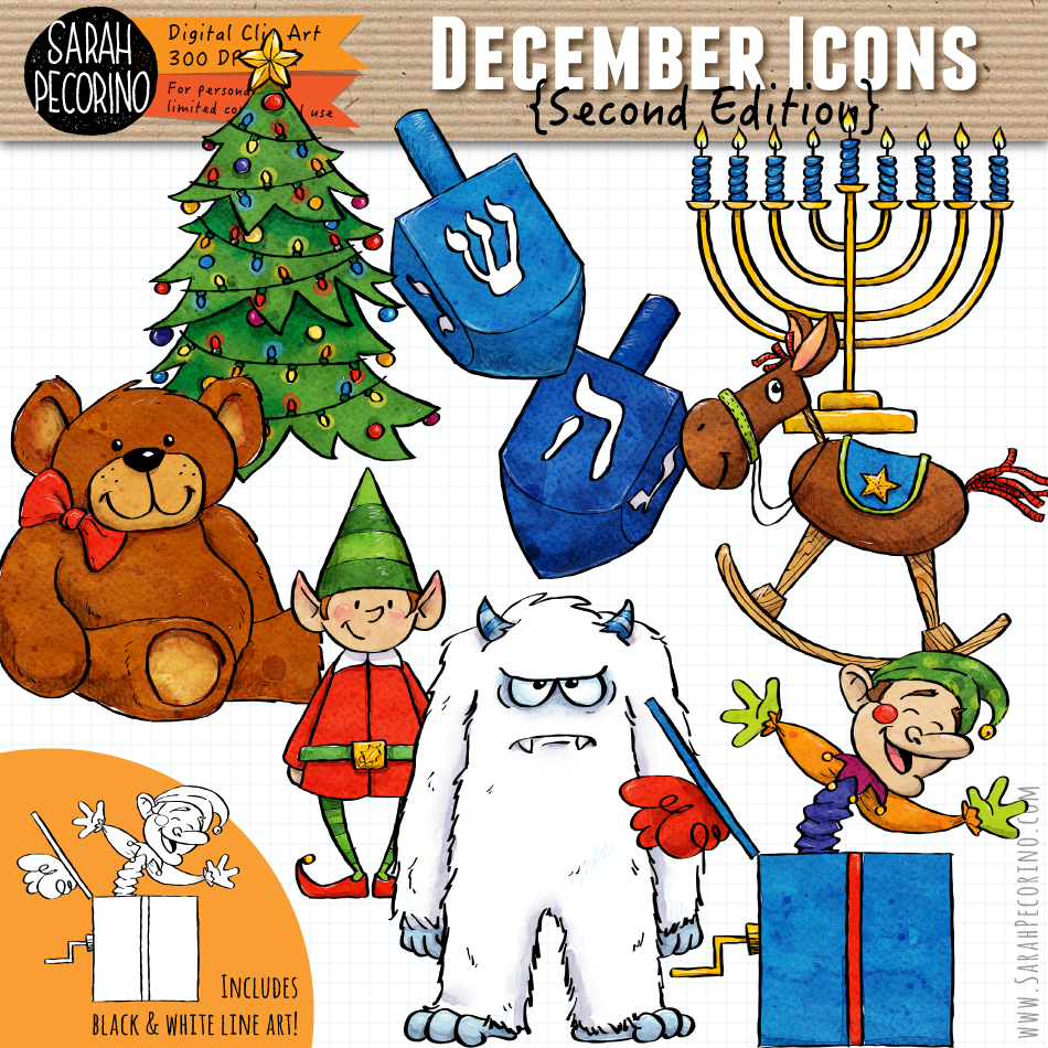December Icons Clip Art {Second Edition}