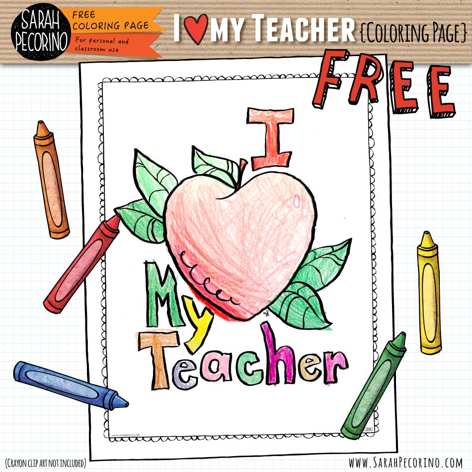 Love Your Teacher Printable Freebies To Show Your Teacher You Care Sarah Pecorino Illustration