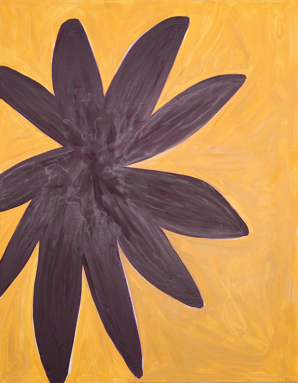 flower, dark violett, beige, 2014