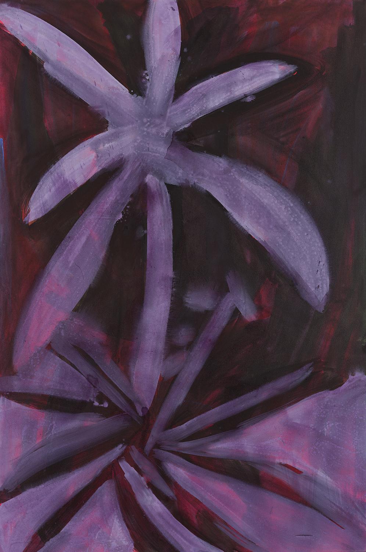 flower 8, violett, dark (red),  2011 - 2015