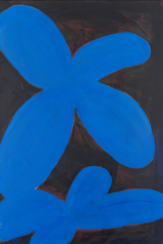flower 13, blue, black, 2011 - 2015
