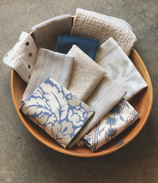 Another #turndownservice sneak peek! These are the final selections for this latest bedroom refresh. Swipe to find out what we're doing with these textiles and to see a before photo of the room!