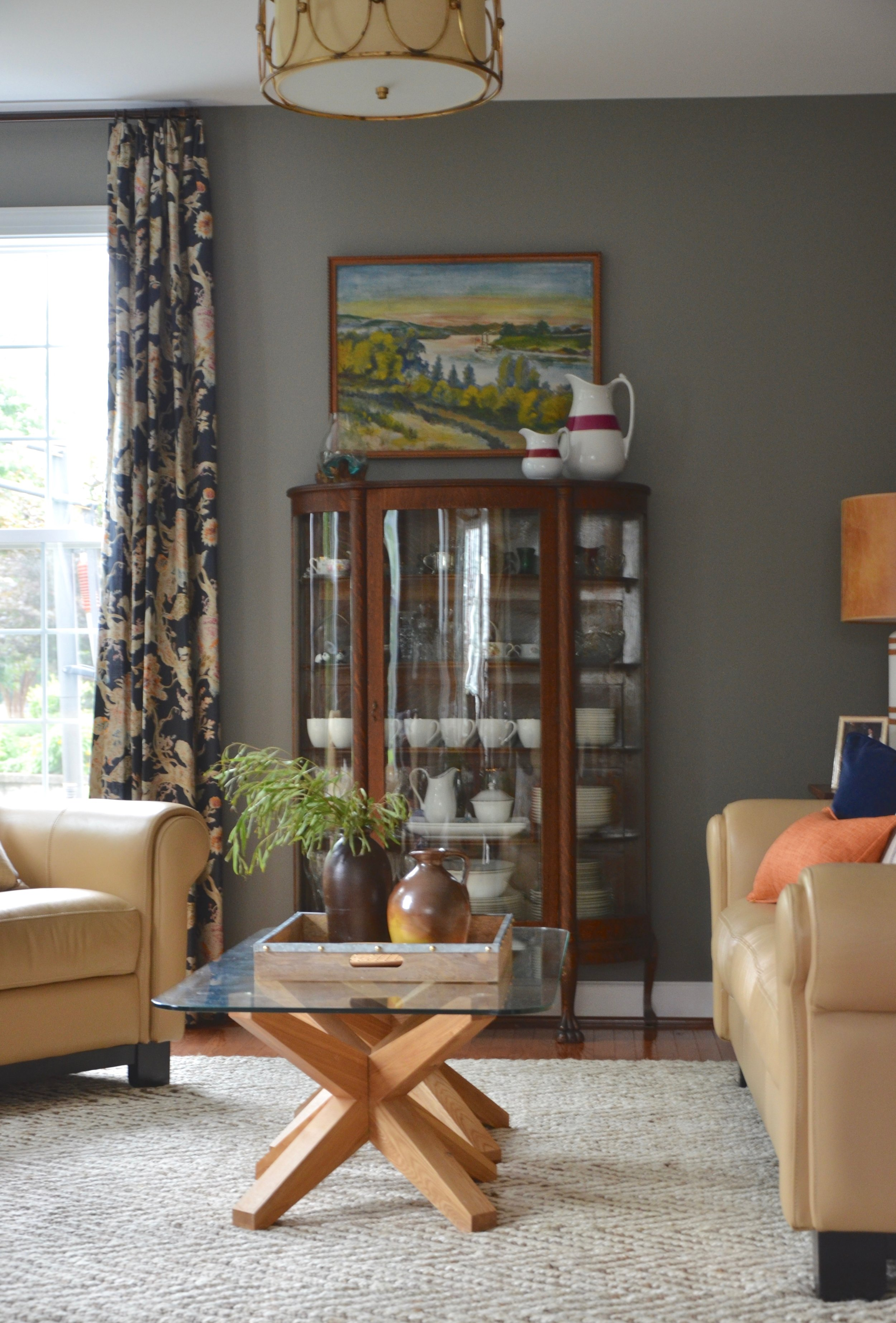 Client First Floor Refresh Living Room in Herndon, Virginia.