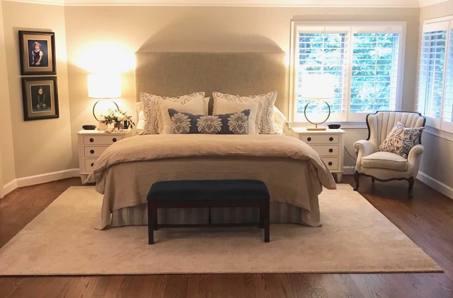 """Client """"Turning-down for an Update"""" in McLean, VA, the after.Turndown Service and Design by Valerianne of DC."""
