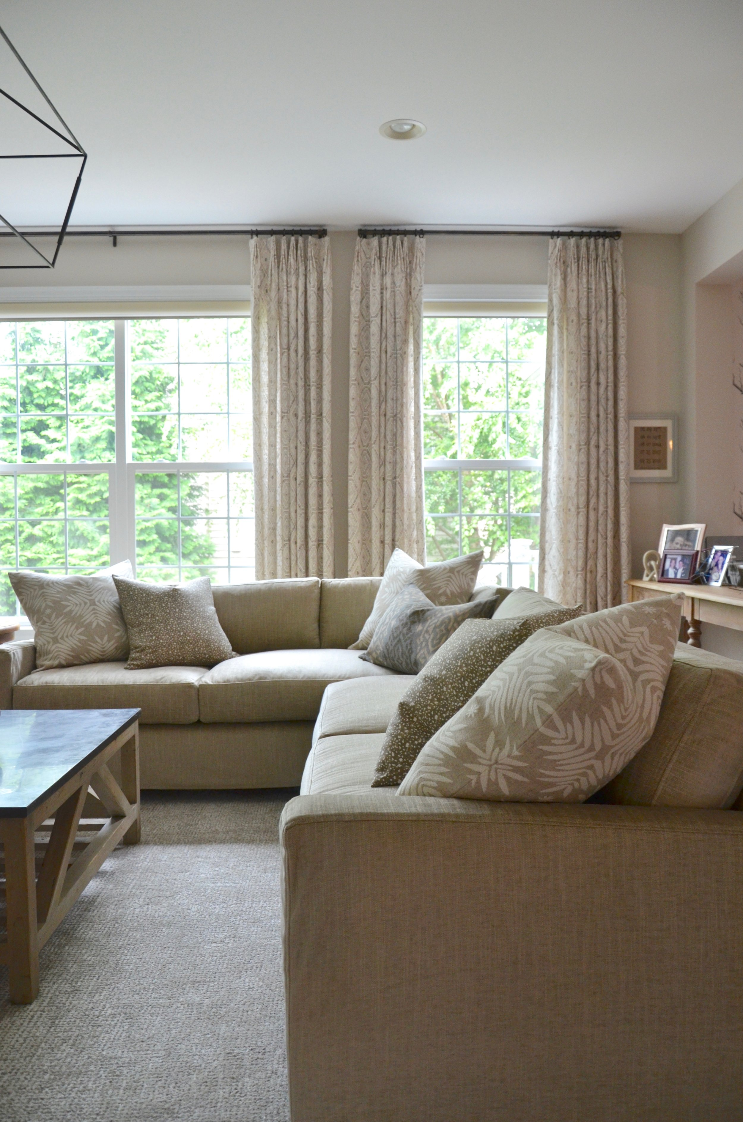 """The family room after in Client """"First Floor Refresh"""" in Herndon, VA."""