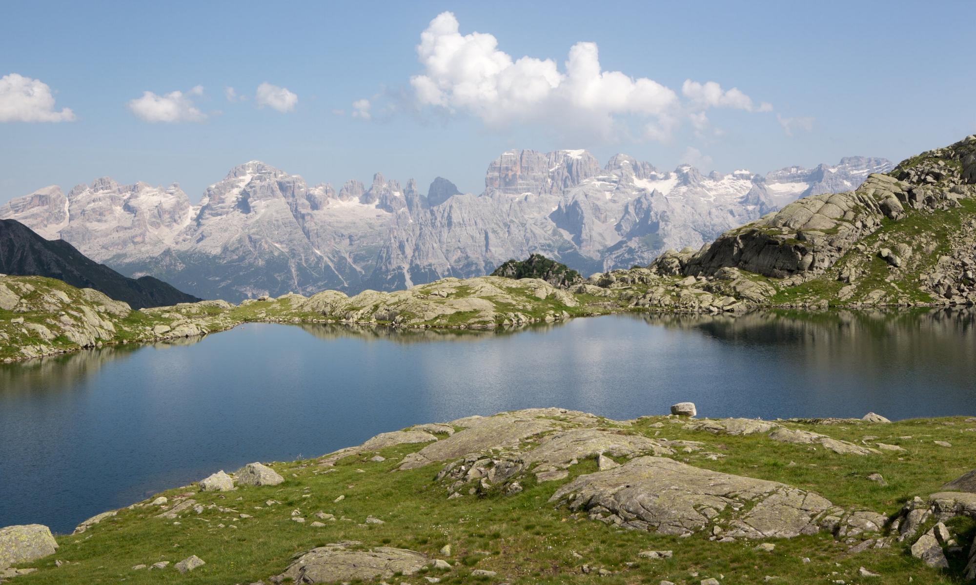 Panorama of Brenta dal Segantini in Italian Dolomite range