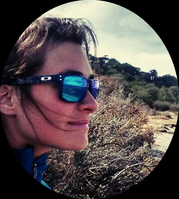 Aimé hiking in Patagonia