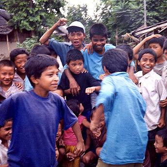 Dancing happily.    Deokumar / PhotoVoice / LWF
