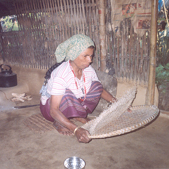 My mother works hard fro the family. In the morning she brings in the water, prepares breakfast, prepares food, works in the garden, cleans the rice and much more. She loves us very much.    Prem  / PhotoVoice / LWF