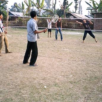 Bhutanese refugee youth united in exercise .  Purna / PhotoVoice / LWF