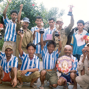 Bhutanese boys love playing football and we have many tournaments in the camps. We have limited facilities but we play even if we have to make our own footballs out of bags and string. Pasang  / PhotoVoice / LWF