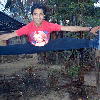 Marshal arts makes all refugee boys healthy and active. They do marshal arts because there are no body building clubs in the camps.    Bikash / PhotoVoice / LWF