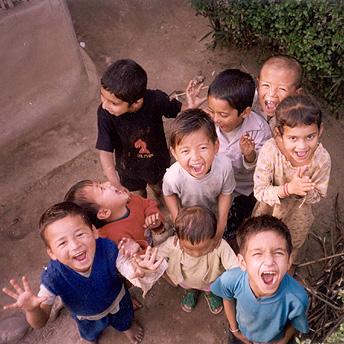 Playing in camp    Bishnu Maya / PhotoVoice / LWF