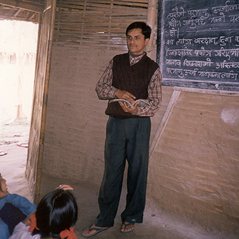A teacher is like the second parent of a child, they have to show the children the right path.   Ajay / PhotoVoice / LWF