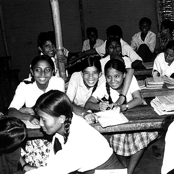 Friends in the classroom. Aite Maya/ PhotoVoice / LWF