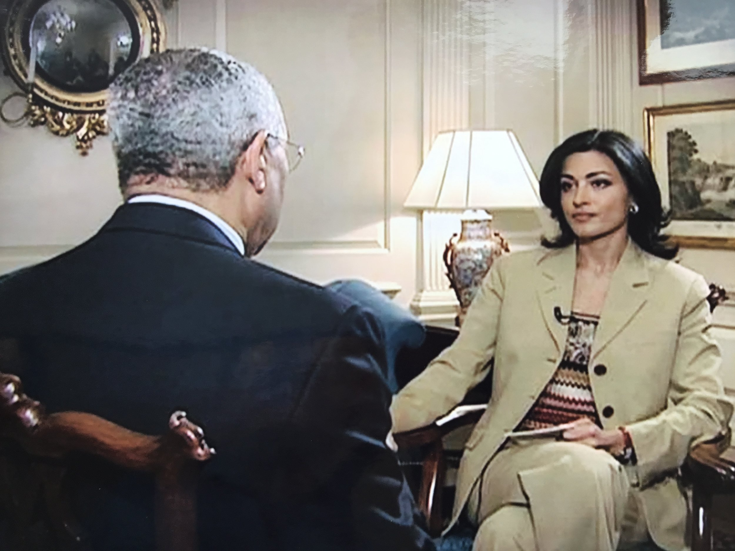 Donald Rumsfeld and Ghida Fakhry