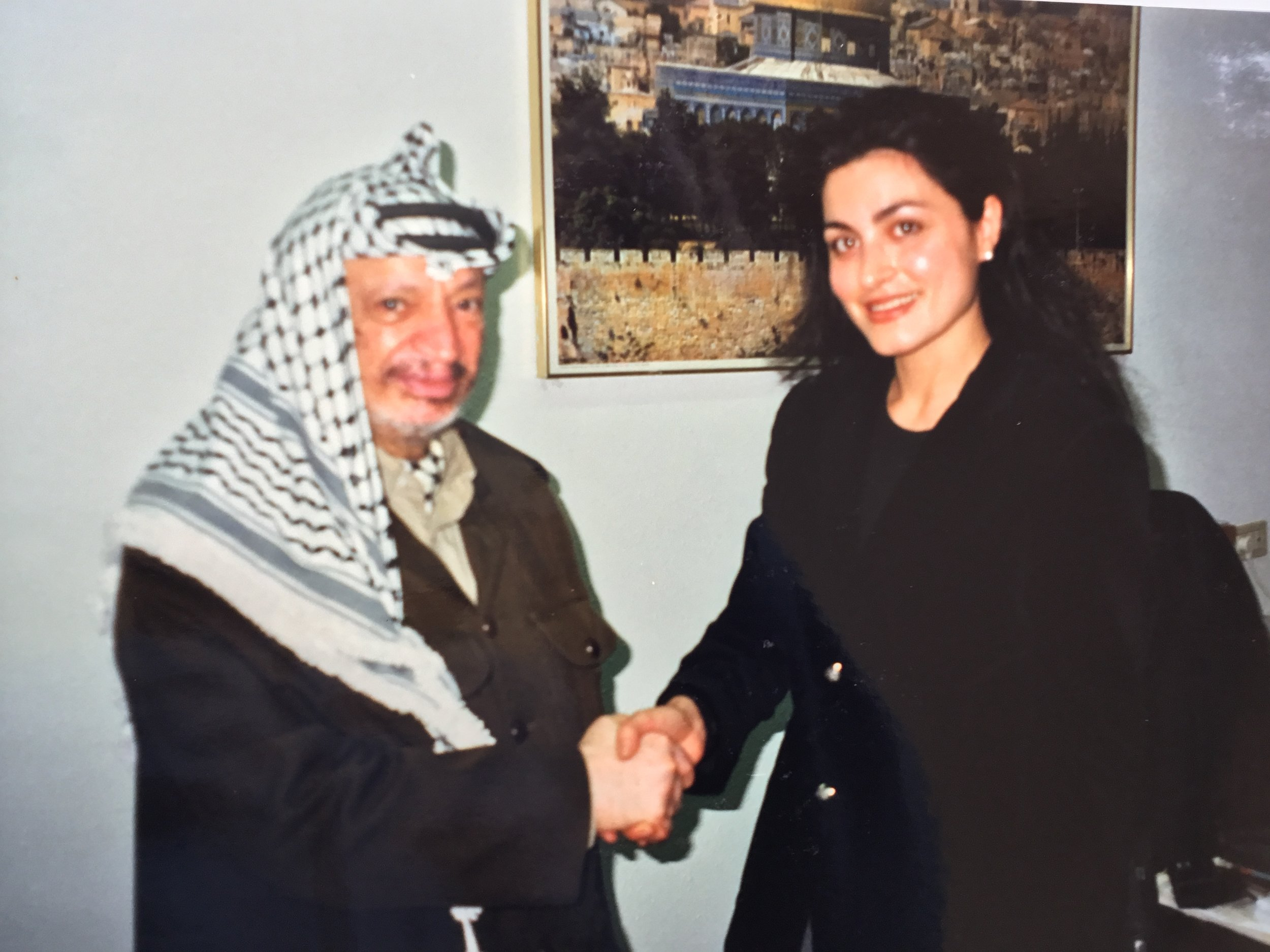Yasser Arafat and Ghida Fakhry