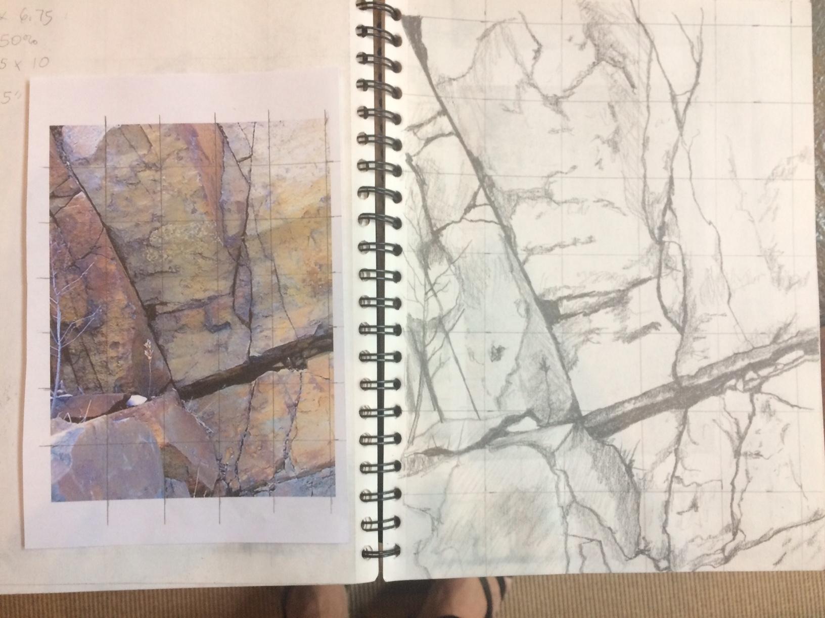 Painting Progression Cliff 1