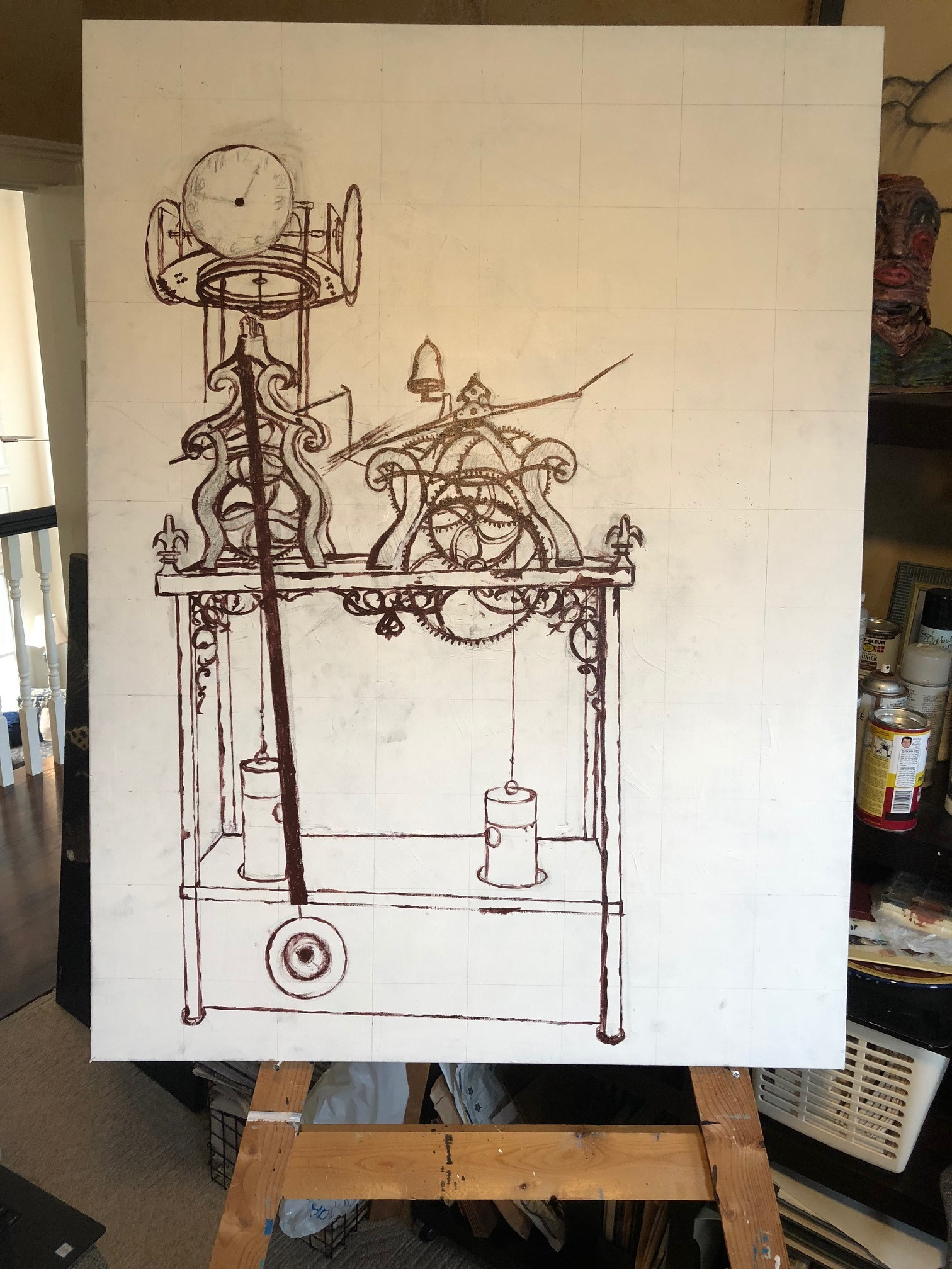 Finalized lines with underpainting