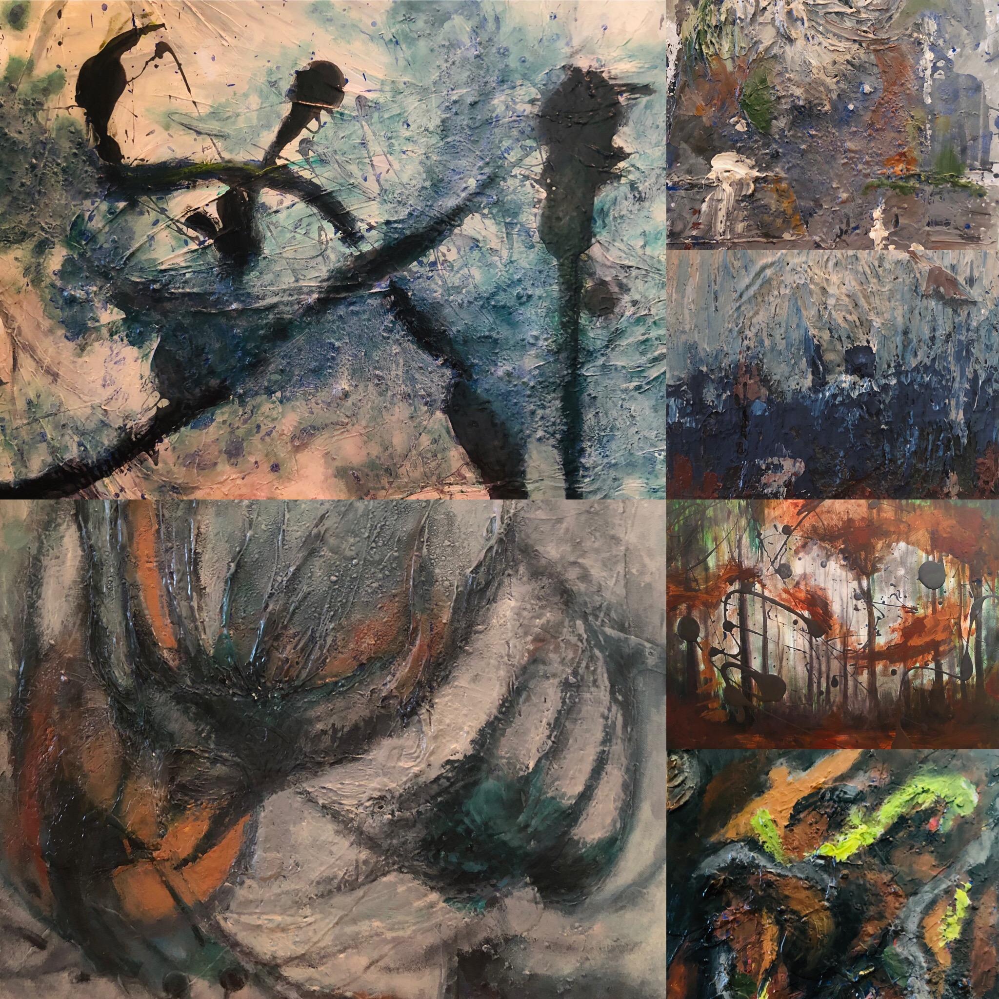 Destroyed paintings reborn