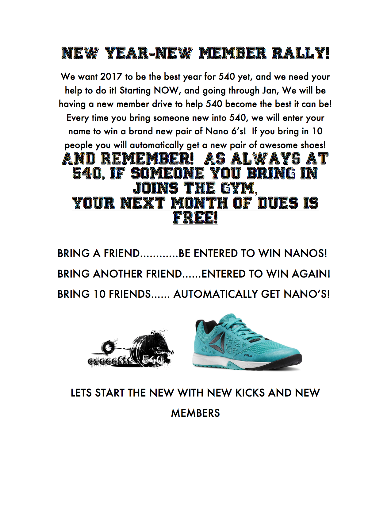 Don't forget about the best new way to get new Nano's and help out the gym at the same time!