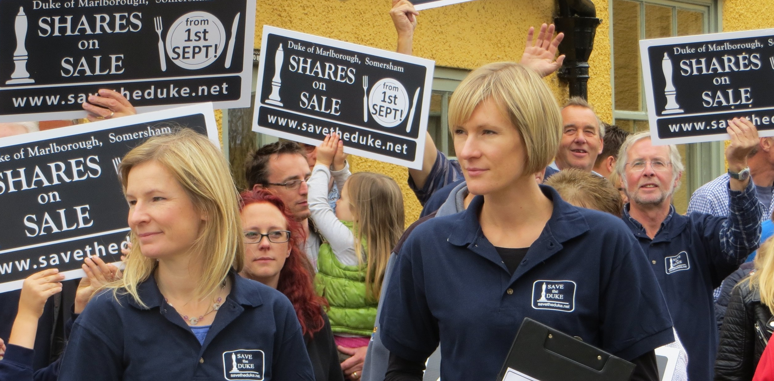 Save the Duke Share Launch, led by campaigners Sarah Caston and Lucy Bat....jpg