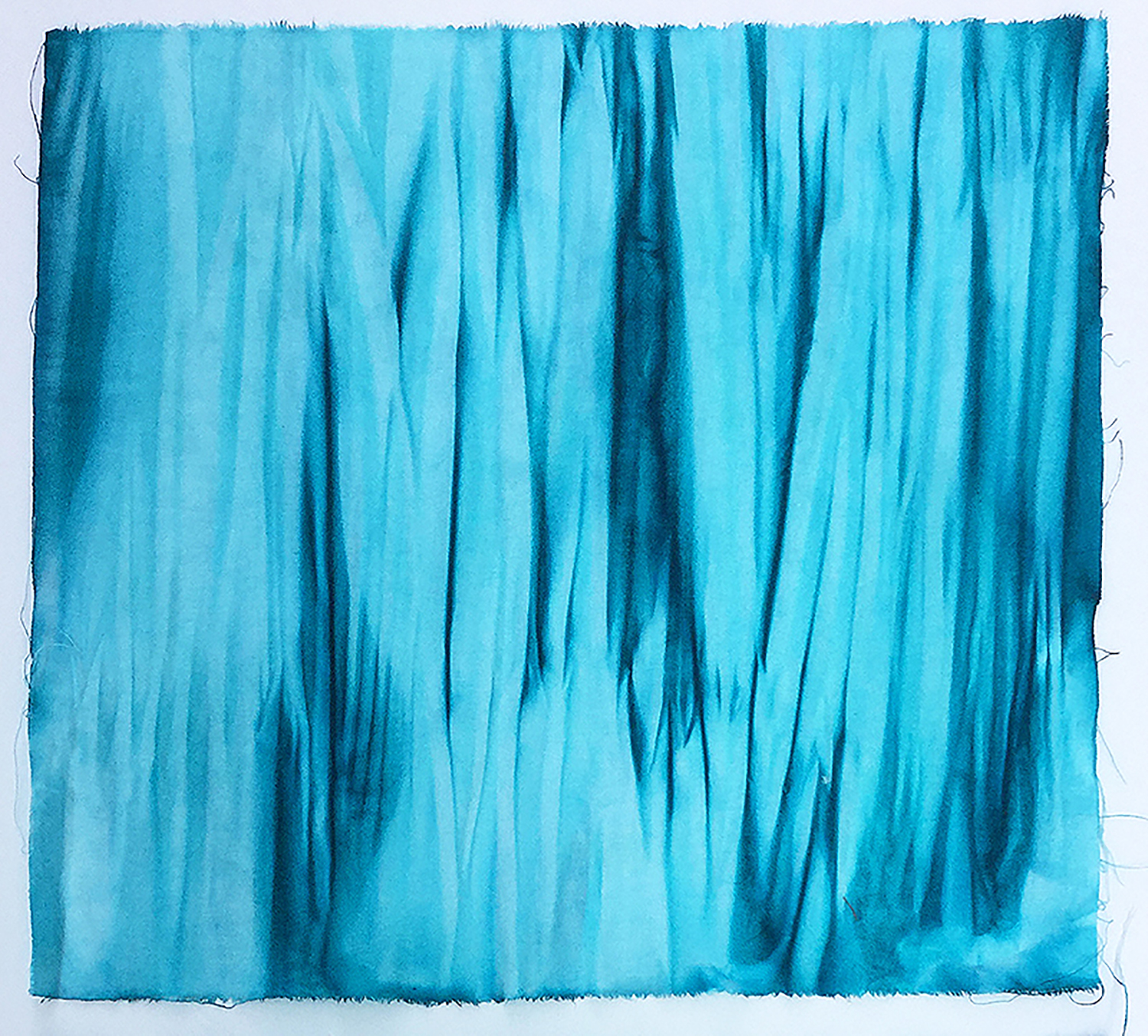 Blue Striations: hand-dyed fabric