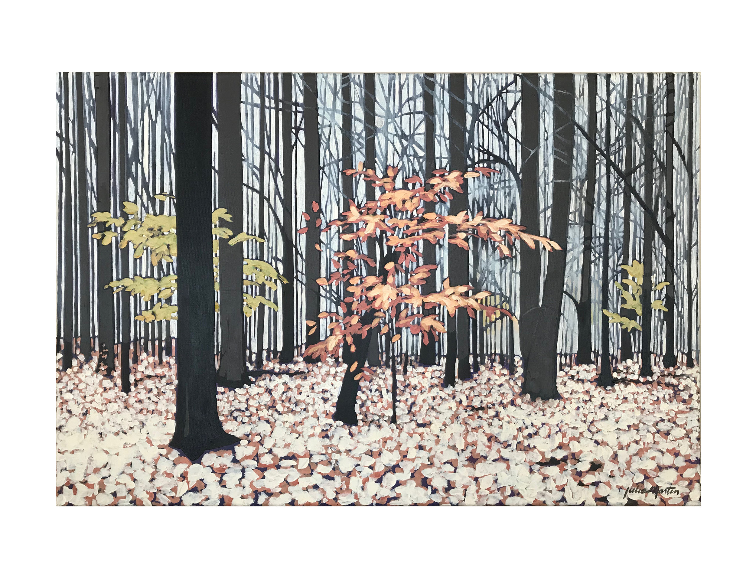 "The Woods Behind My House • Acrylic on canvas • ""24"" x 36"""