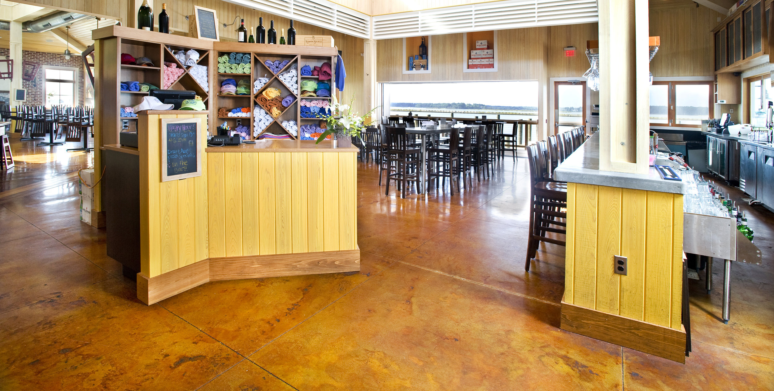 Bridges restaurant - Stained & Sealed Concrete