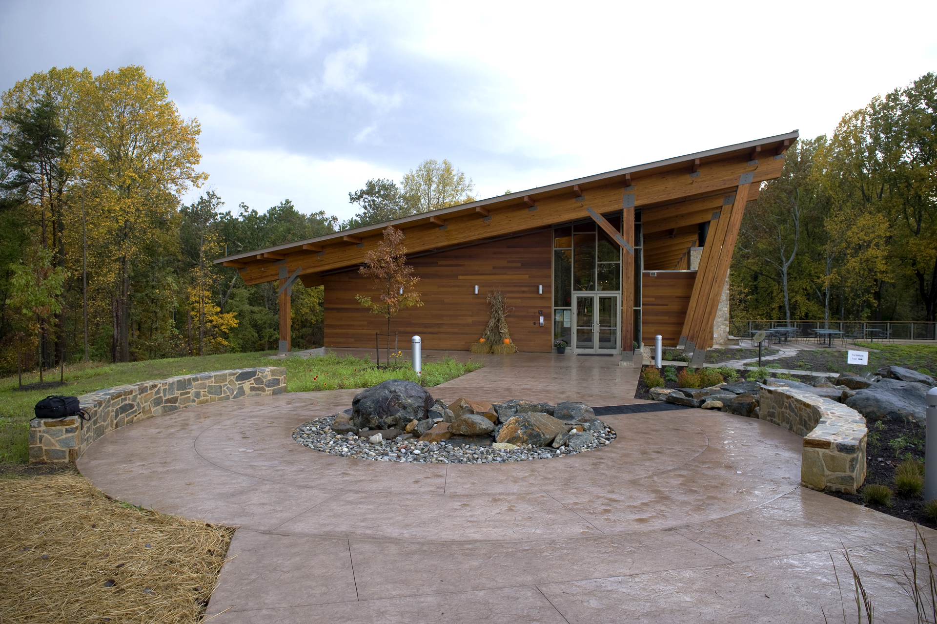 robinson nature center - Stamped Concrete