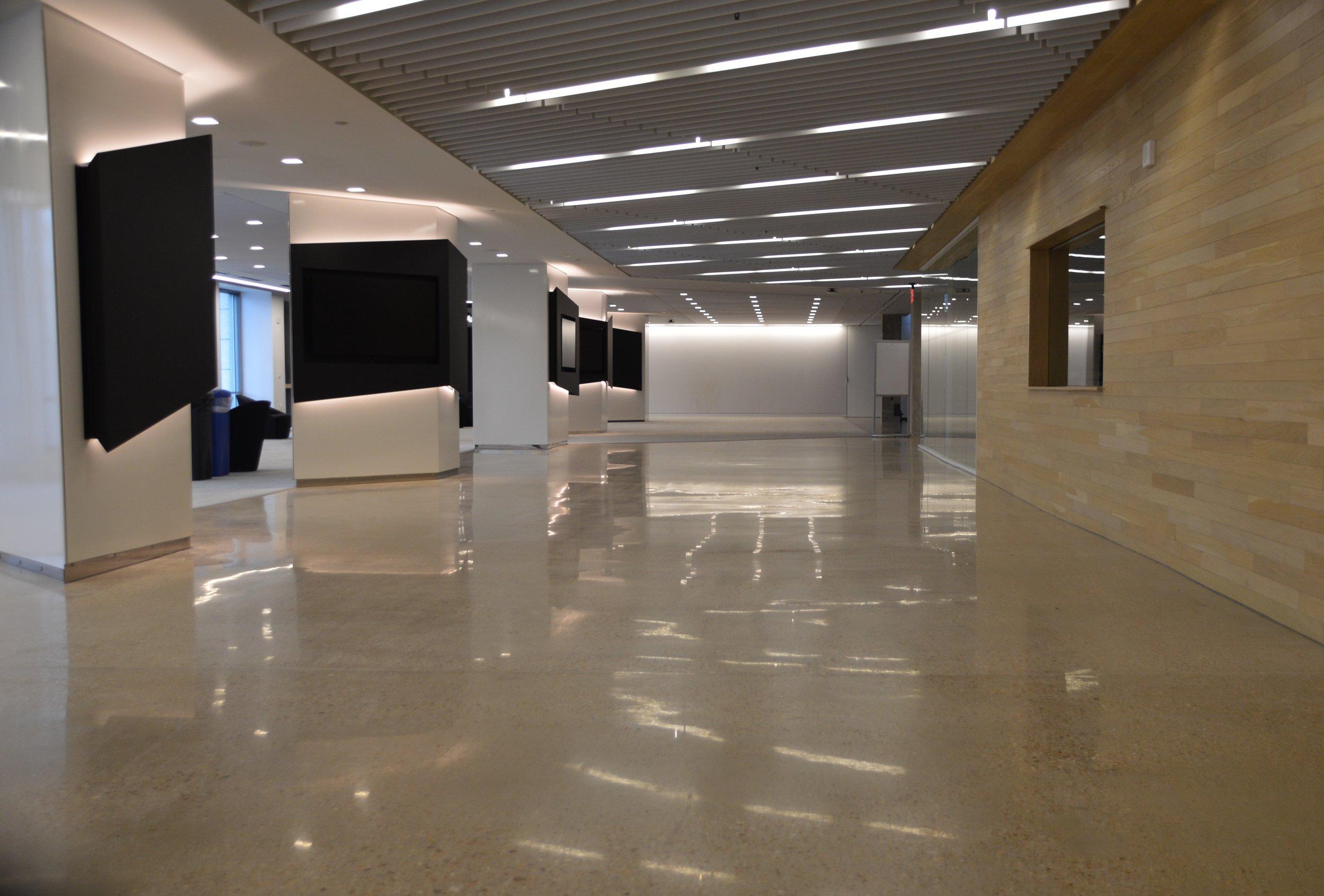 washington post hq - Polished Concrete