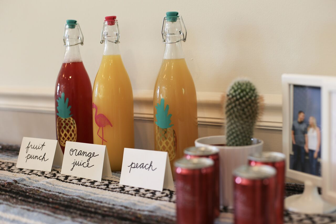 The cutest festive mimosa bar is a key to a bridal shower brunch.