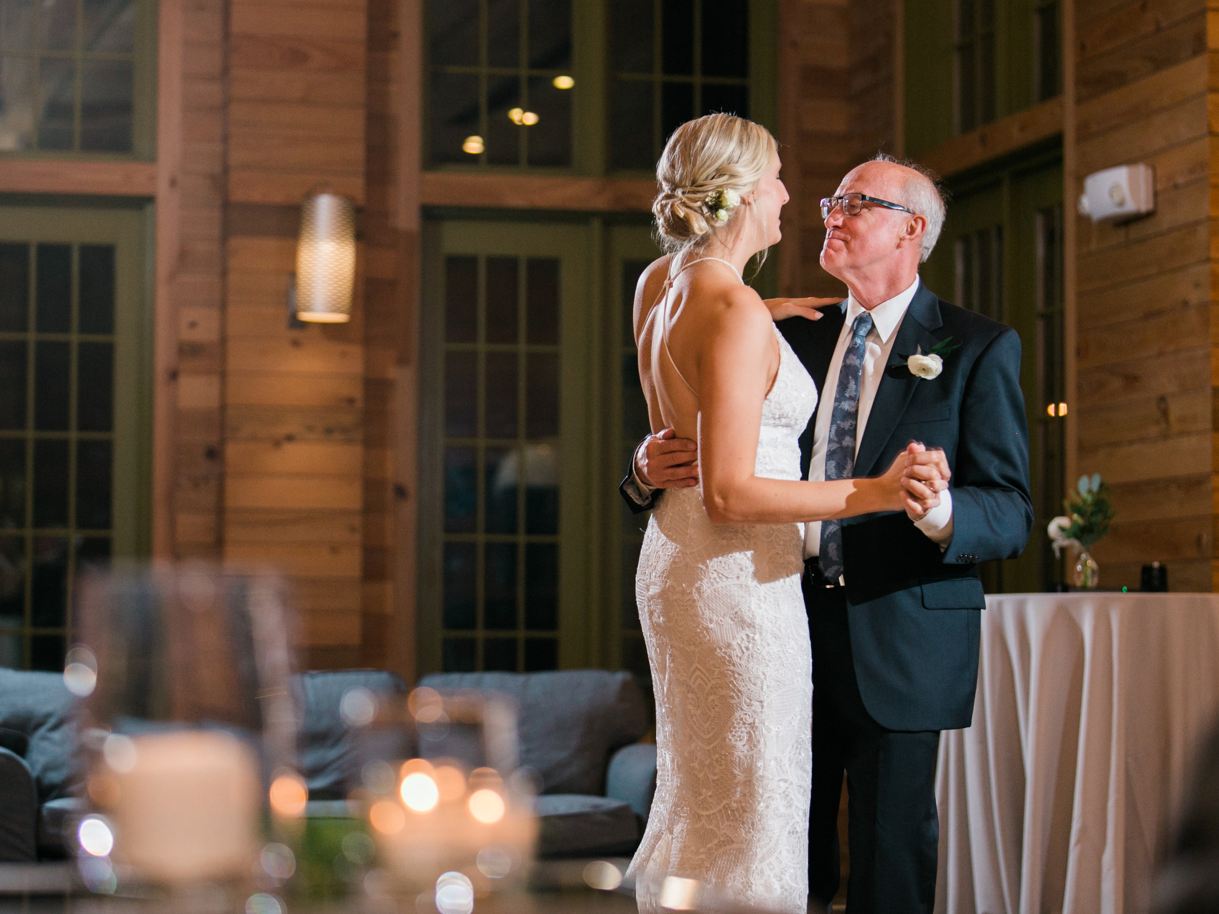My Dad and I danced to 'How Sweet It Is' by James Taylor.
