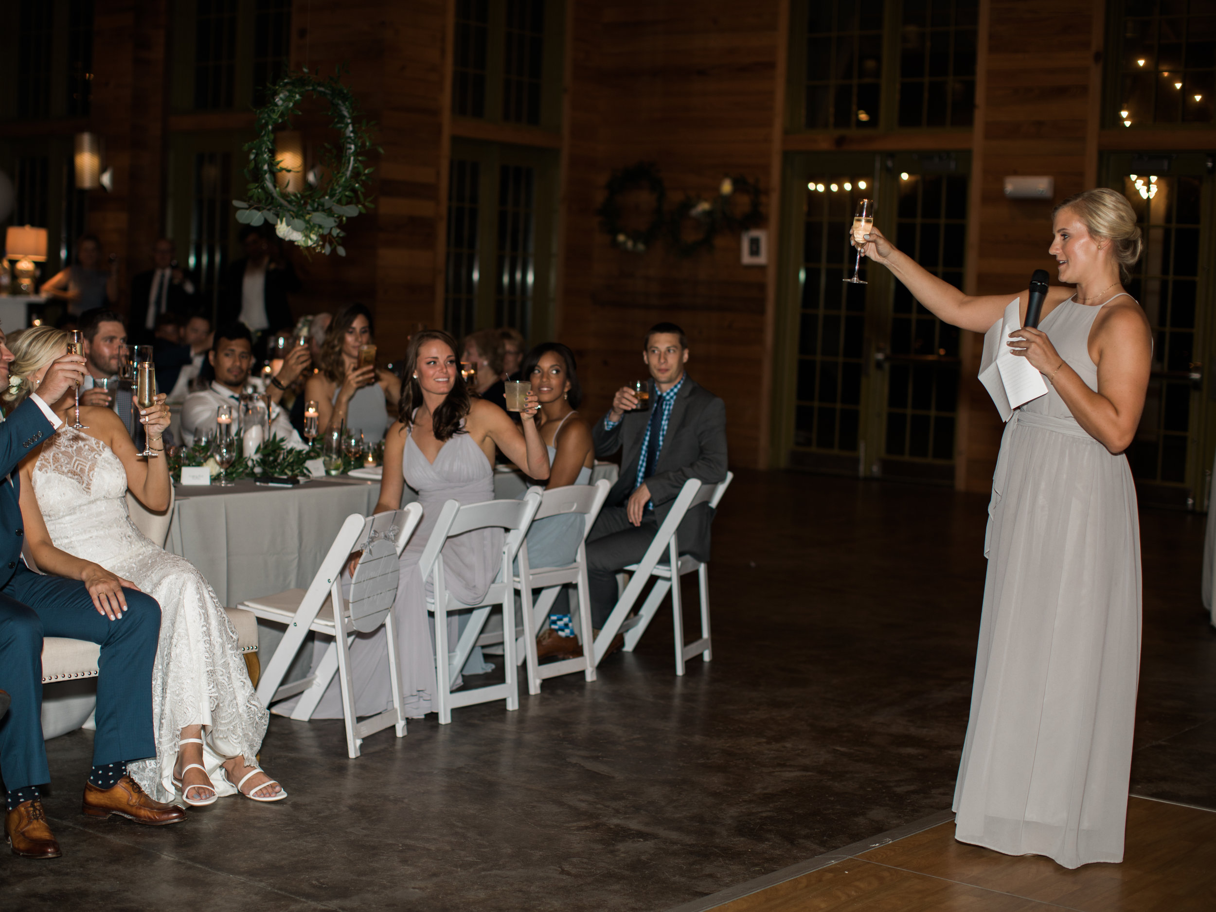 And to no one's surprise, my sister crushed her toast. Best Maid of Honor in the game.