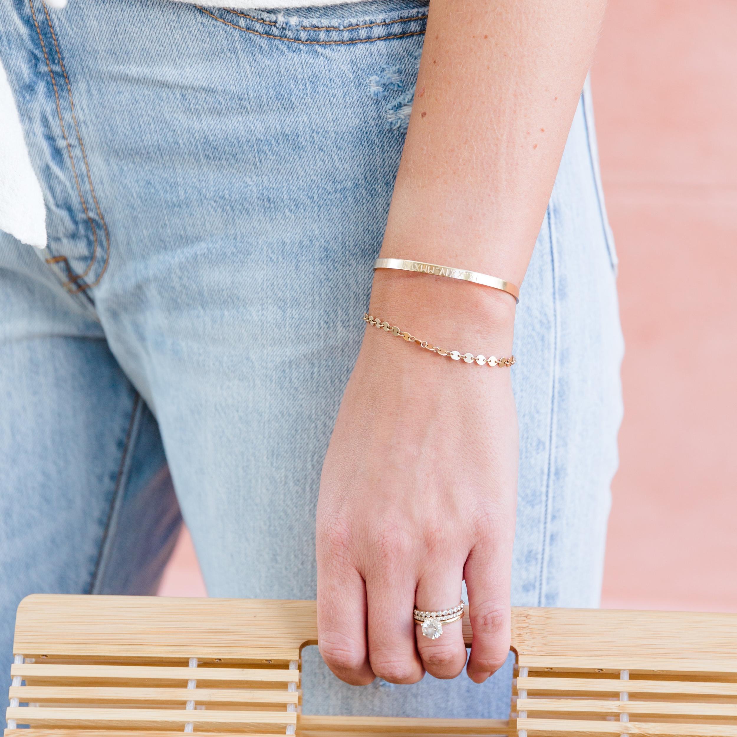 Custom Cuff Bracelet 14k Gold Fill