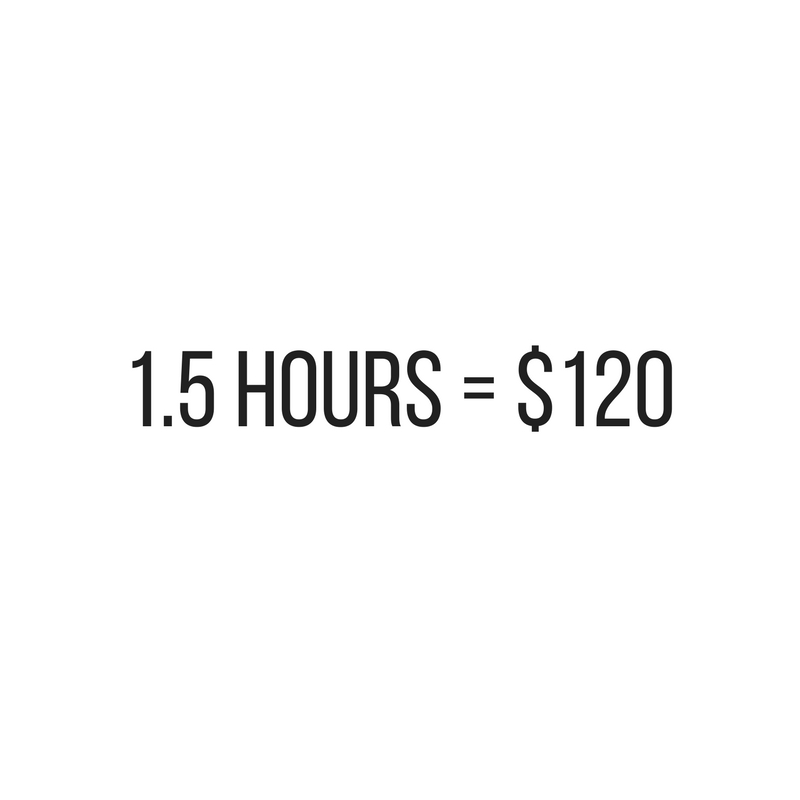 1.5 Hour Massage Price at Urban Kneads