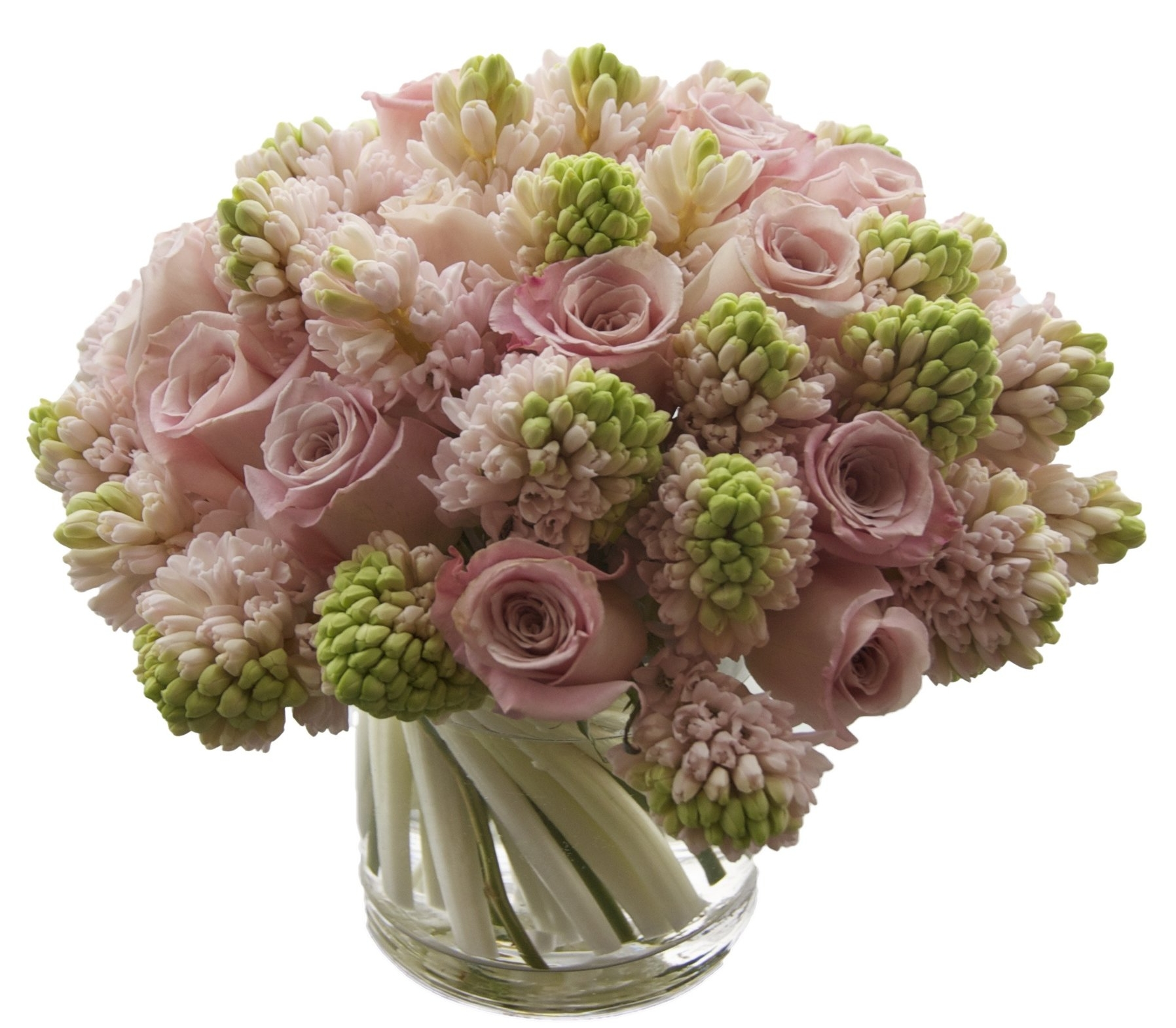 Pink Rose and Hyacinth, from $225
