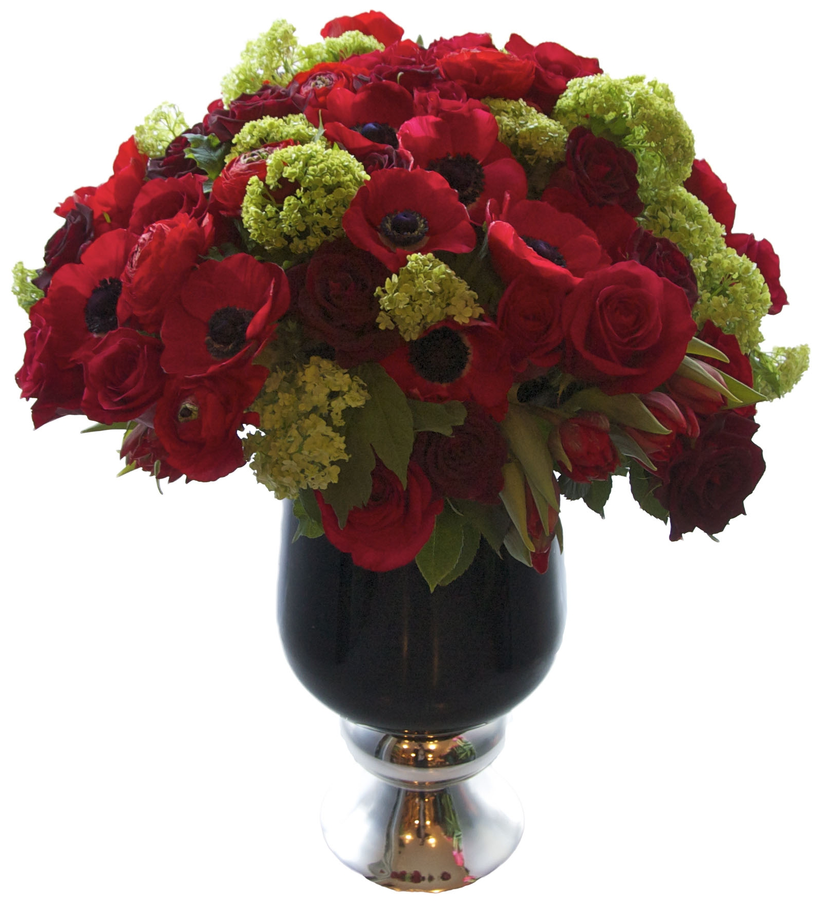Anemones, Roses and Hydrangea start at $375